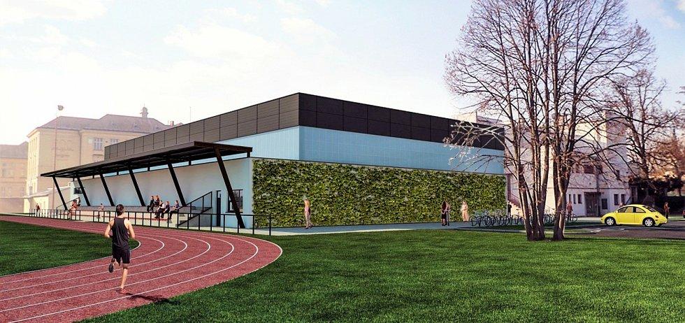 Vizualizace víceúčelové haly v Litovli