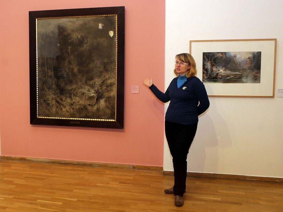 Expozice Uhlem, štětcem, skalpelem… v olomouckém Muzeu umění
