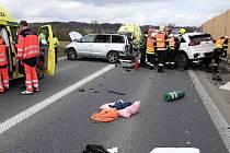 Hromadná nehoda na obchvatu Zvole, 23. dubna 2021