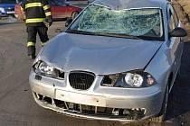 Srážka mopedu s osobním autem u Horky nad Moravou