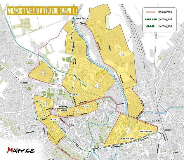 Dopravní omezení po trase Olomouckého půlmaratonu 2019