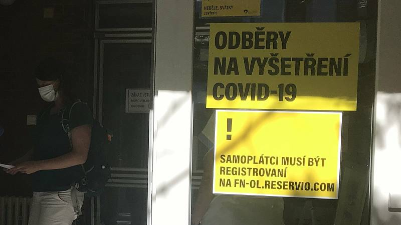 Odběrové místo FN Olomouc. 9. září 2020