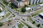 Rozšíření tramvajové trati na Nové Sady a do Slavonína: vizualizace křížení Zikova - Schweitzerova ulice