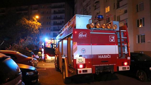Požár bytu v Hermannově ulici v Olomouci