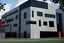 Vizualizace dostavby Slovanského gymnázia v Olomouci