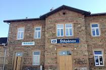 Nádražní budova ve Štěpánově.