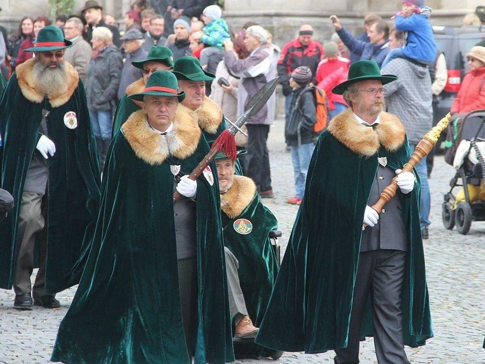 Myslivecké tradice připomněla v Olomouci mše svatá i průvod městem.