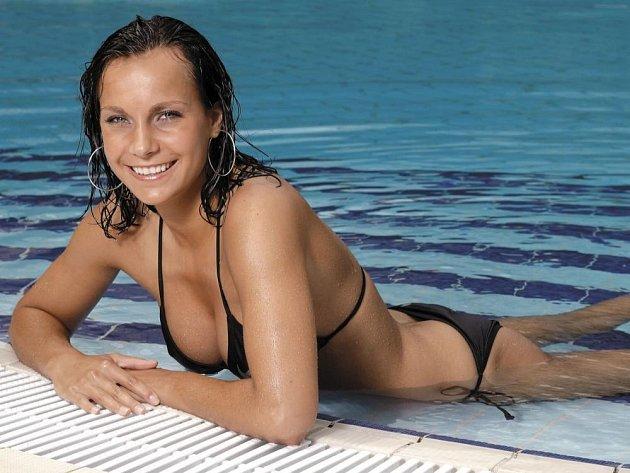 Fotbalistka české reprezentace Irena Martínková na fotografii pro časopis Hattrick