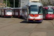 Tramvajové depo DPMO v Koželužské ulici v centru Olomouce