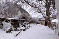 Sníh v Jívové u Šternberka