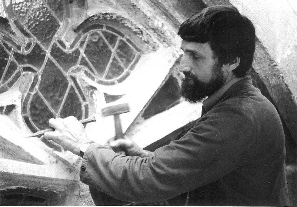Ladislav Werkmann v 80. letech na Rajském dvoře ve Zdíkově paláci