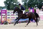 Maxmilian Schmid (Něm.) a Quabs. Světový pohár v jezdeckém areálu Equine Sport Centre v Olomouci