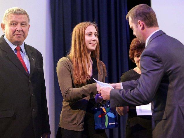 Ocenění studenti. Kadlecová Lucie Gymnázium Olomouc - Hejčín.