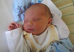 Marek Arnold, Bohuňovice, narozen 25. listopadu v Olomouci, míra 52 cm, váha 3770 g.