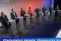 Debata lídrů stran z Olomouckého kraje na ČT24