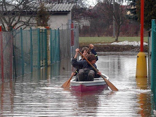 Záplavy vLitovli-Komárově.