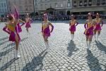 Přehlídka vojenských hudeb na Horním náměstí v Olomouci
