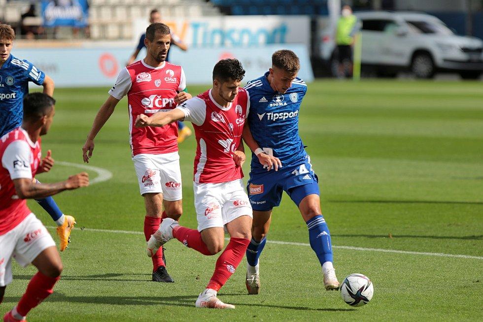 Olomoučtí fotbalisté porazili doma Pardubice 3:2 (1:1)Antonín Růsek