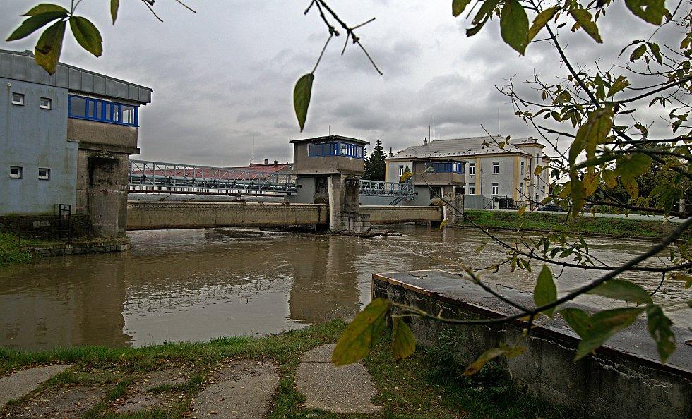 Řeka Morava na 2. SPA v Olomouci. 16. října 2020