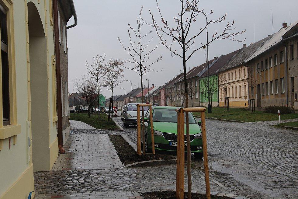Příkazy - nové stromy v centru obce