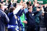 Fans Sigmy bojkotovali derby s Baníkem a skandovali před stadionem