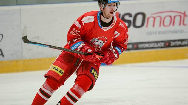 Útočník HC Olomouc Lukáš Kucsera.
