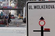 Uzavírka Wolkerovy ulice. Ilustrační foto