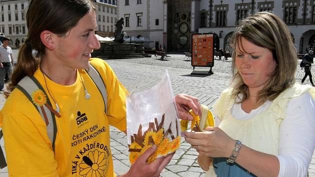 Lidé se zdobili žlutými kvítky a pomohli v boji s rakovinou