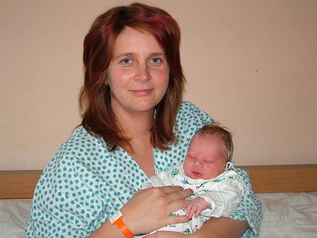 Malý Ondřej Šolc s maminkou