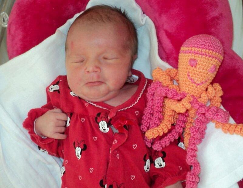 Vanessa Marie Fialová, Litovel, narozena 23. září ve Šternberku, míra 45 cm, váha 2670 g