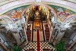 Opravený interiér baziliky na Svatém Kopečku.