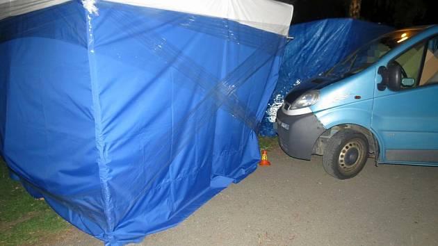Nehoda opilého řidiče dodávky na výstavišti Flora
