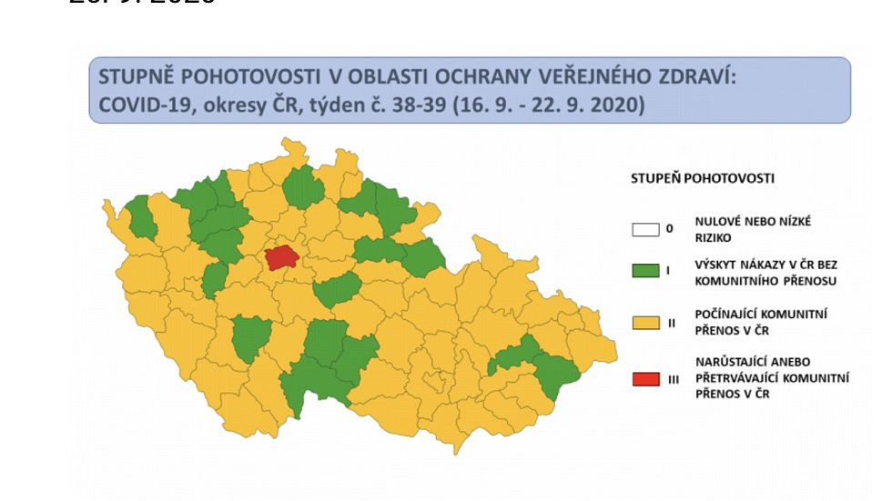 Na covidovém semaforu ČR jsou všechny okresy Olomouckého kraje oranžové, kromě Přerovska.