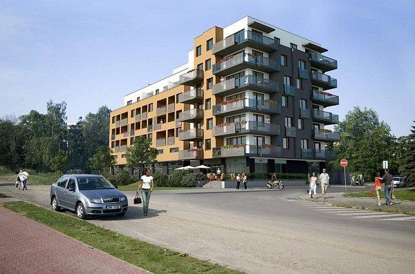 Ukavalerie - vizualizace bytového domu vsousedství BEA centra mezi třídou Kosmonautů a LŠU Žerotín