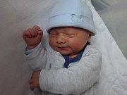 Karel Učík, Horka nad Moravou, narozen 13. ledna, míra 50 cm, váha 3740 g