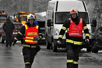 Hromadná nehoda na R35 u Lipníku. Pátek 11. ledna