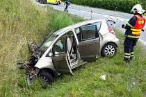 Nehoda u Velkého Újezdu ve čtvrtek 29. června 2017