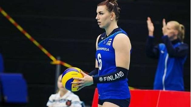 Finská blokařka Krista Michaela Bjerregårdová-Madsenová