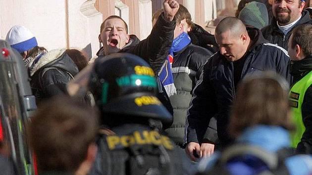 Fanoušci Baníku v Olomouci. Ilustrační foto