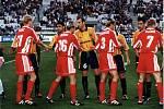 Olomoučtí fotbalisté remizovali v roce 1998 v Poháru UEFA doma s Olympiquem Marseille 2:2. před odvetou v Marseille
