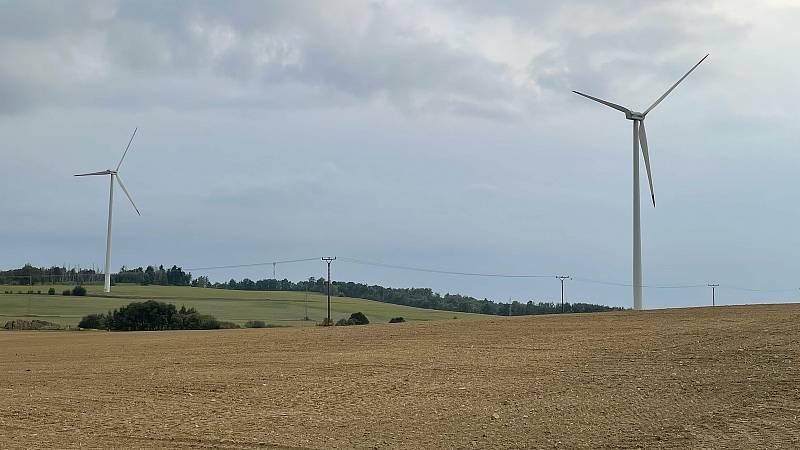Větné elektrárny u Horní Loděnice, září 2021