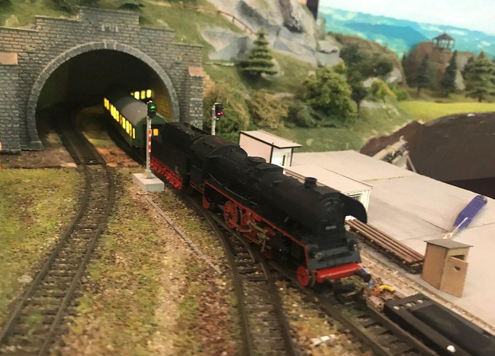 Výstava Klubu železničních modelářů Lutín.