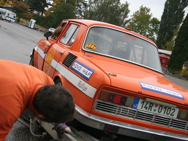 Příprava na Rally Jeseníky ve Šternberku