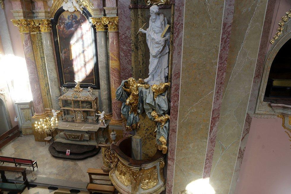 Bazilika na Sv. Kopečku ve finále velké rekonstrukce. 26. srpna 2020