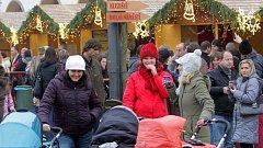 Vánoční trhy v Olomouci. Ilustrační foto