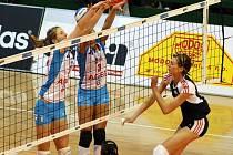 Volejbalistky Prostějova(ve světlém). Ilustrační foto