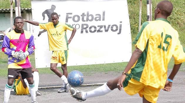Afričané v Olomouci předvedli, že fotbal hrát umí.