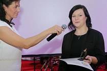 Lenka Šrámková. Předávání cen Křesadlo za ok 2016 v Arcibiskupském paláci v Olomouci