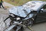 Nehoda superbu mezi Holubicemi a Lipovou