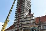 Rekonstrukce radniční věže na Horním náměstí v Olomouci - 8. dubna 2019
